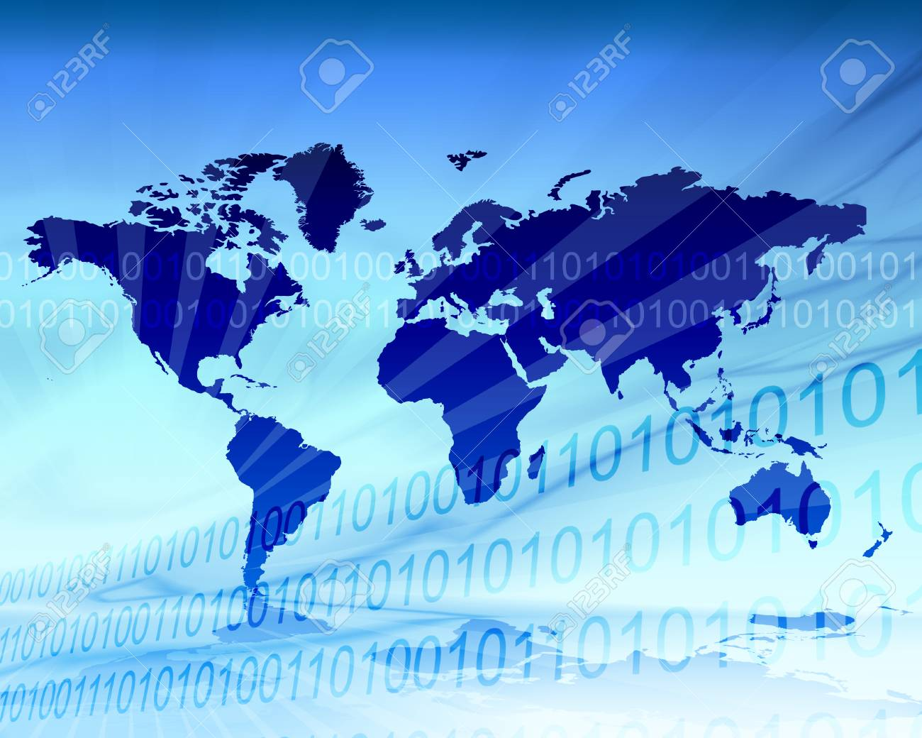 Cool blue world map illustration in zero and one binary background cool blue world map illustration in zero and one binary background stock illustration 39332281 gumiabroncs Image collections