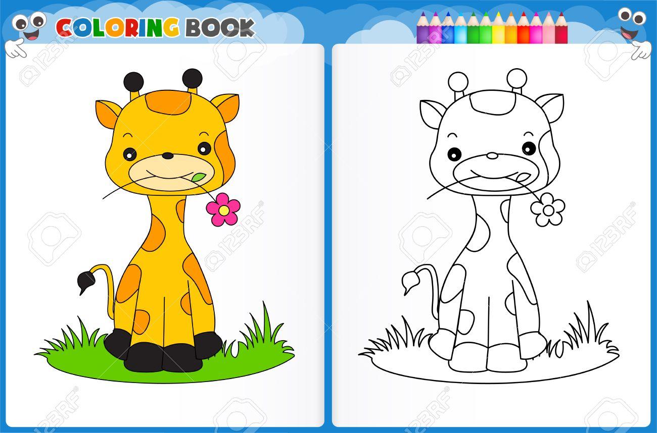 Moderno Lindo Bebé Jirafa Para Colorear Modelo - Dibujos Para ...