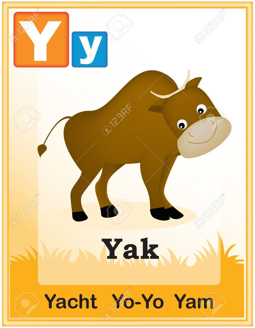 かわいい動物と資本類似単語イラストと簡単な手紙と動物のアルファベット