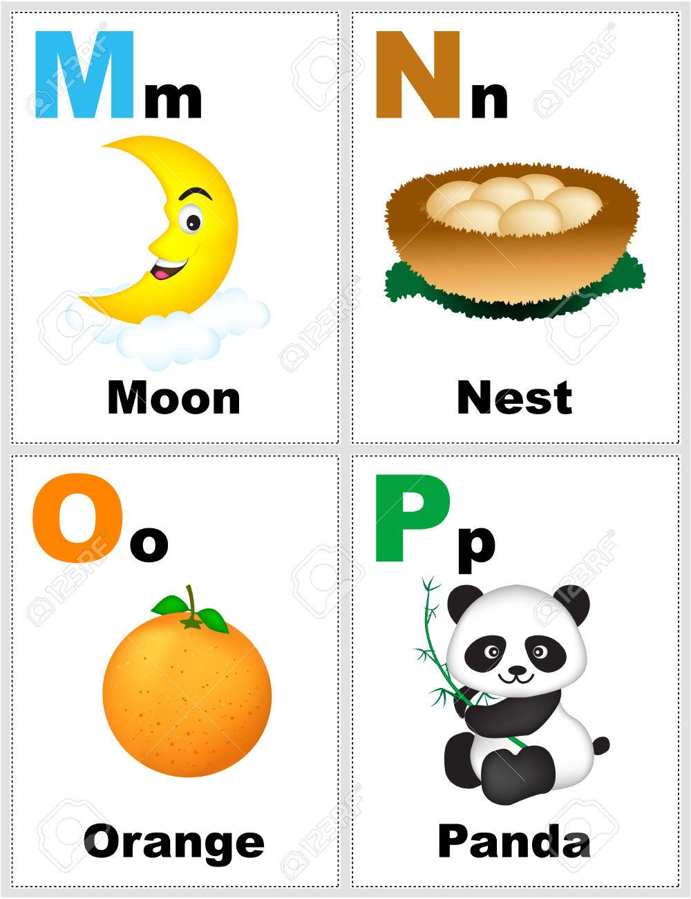 picture regarding Alphabet Printable Flash Cards identified as Alphabet printable flashcards range with letter M N O P