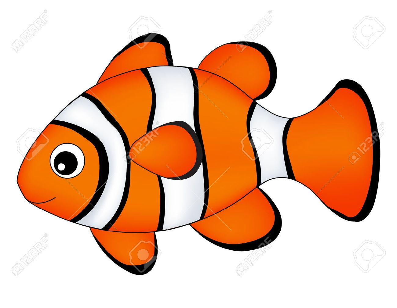 reef fish clown fish fish isolated on white background royalty rh 123rf com clown fish clipart black and white Seahorse Clip Art