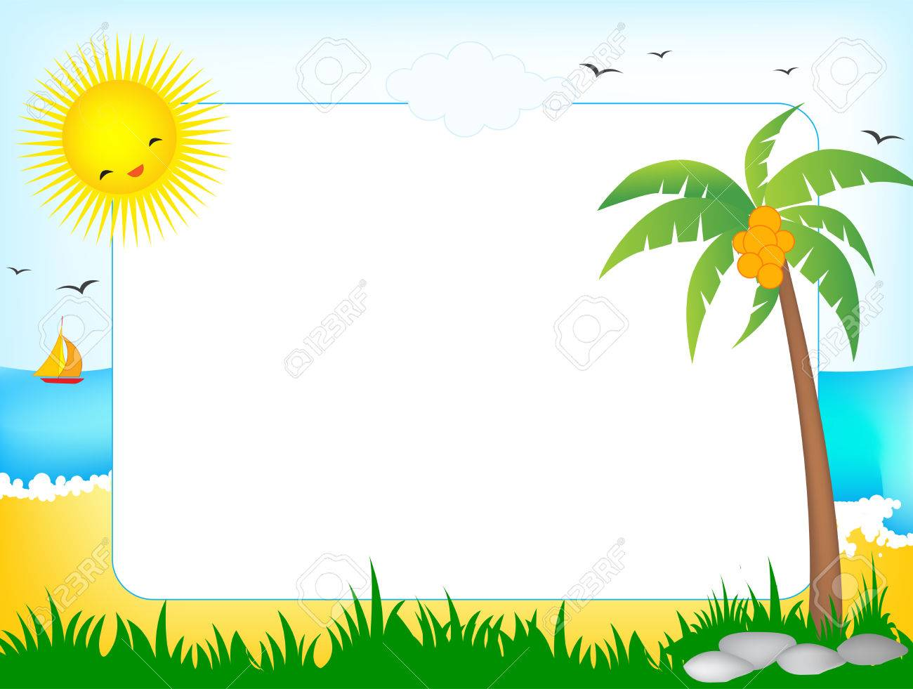 Summer Frame / Border Royalty Free Cliparts, Vectors, And Stock ...