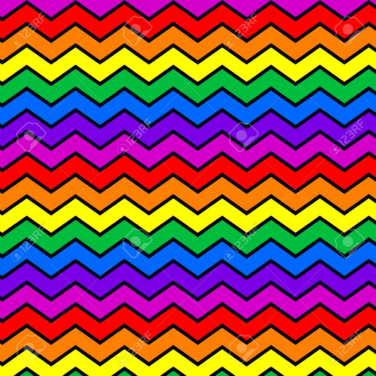 colorful rainbow color zigzag chevron pattern background royalty rh 123rf com chevron pattern vector free Chevron Backgrounds Vector