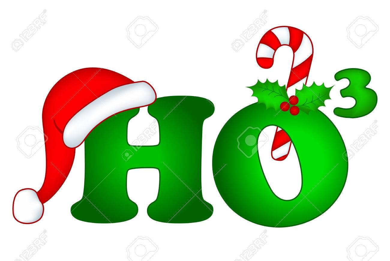 Ho Ho Ho Merry Christmas.Ho3 Decorative Christmas Text Ho Ho Ho Merry Christmas