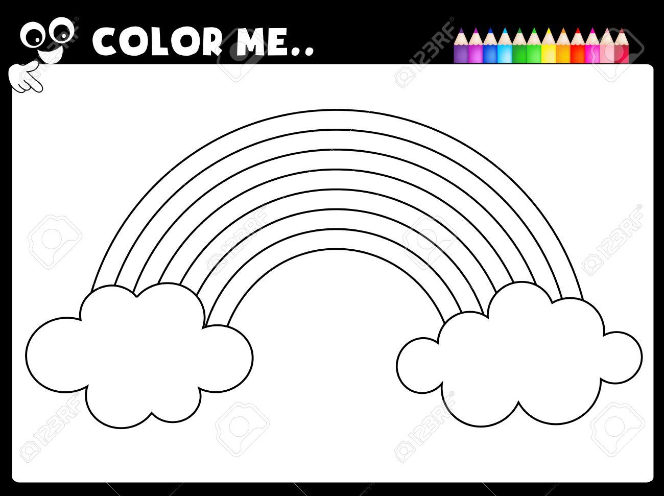 Hoja De Cálculo - Colorear Hoja De La Página Del Arco Iris Para Los ...
