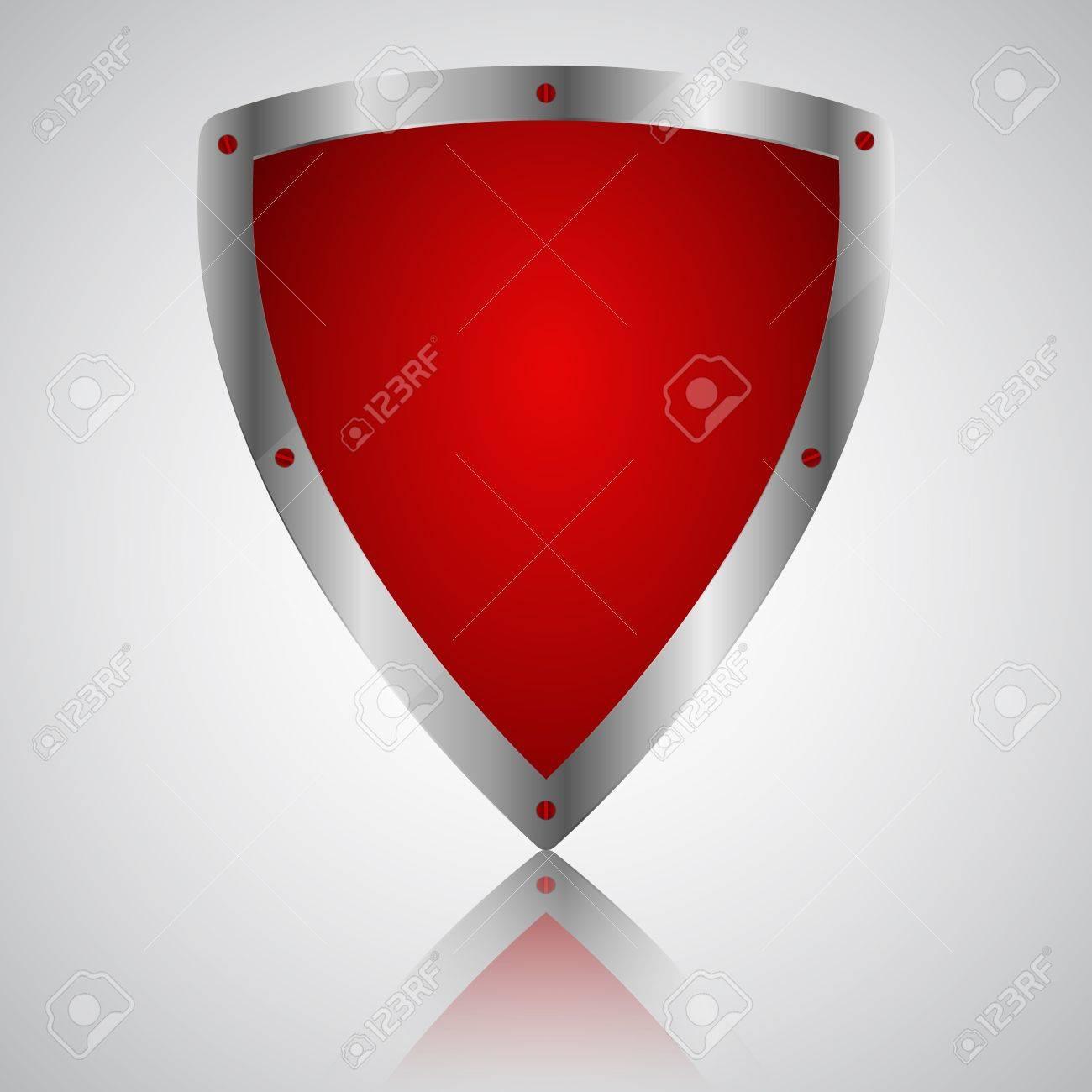 Victory red shield symbol icon, illustration Standard-Bild - 20087696