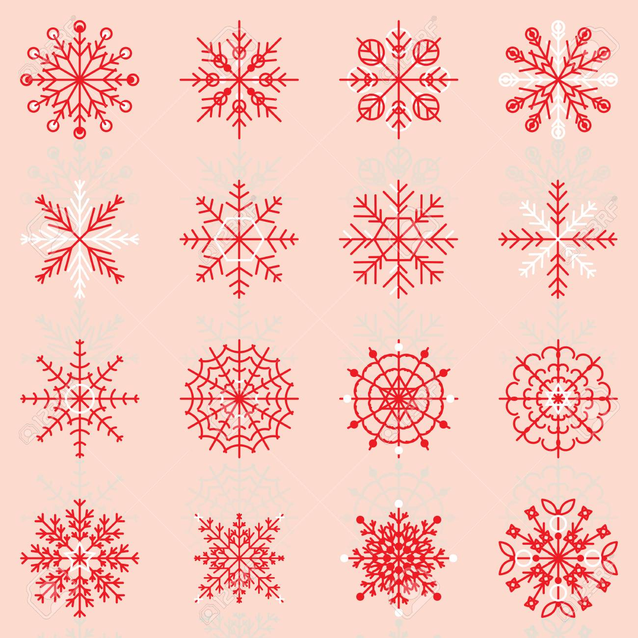 Create snowflake icons with reflect, stock vector - 24026764