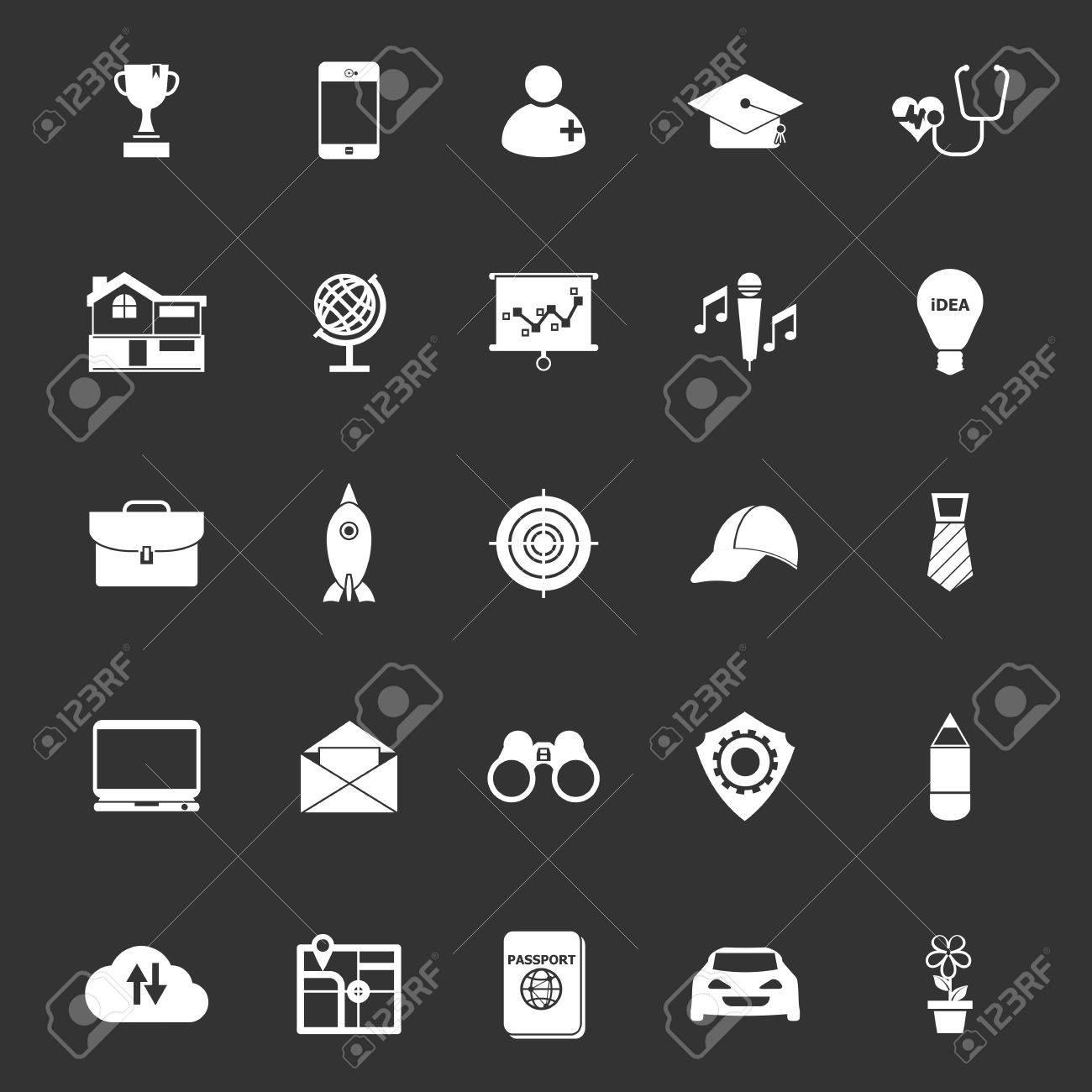 Job Description Icons On Gray Background, Stock Vector Stock Vector    42028045