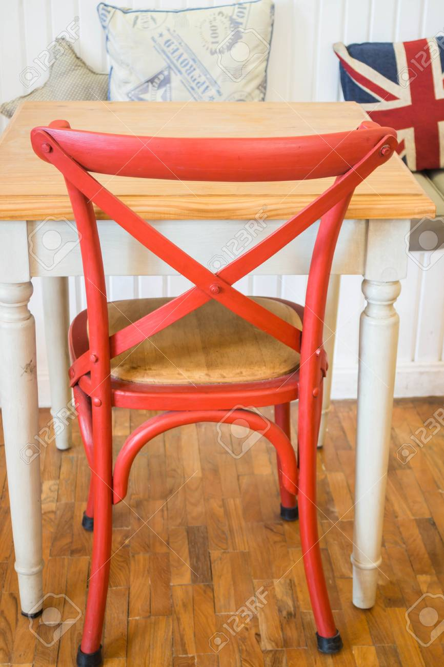 Vintage Wooden Kitchen Chair And Table Stock Photo Picture And Royalty Free Image Image 71218517