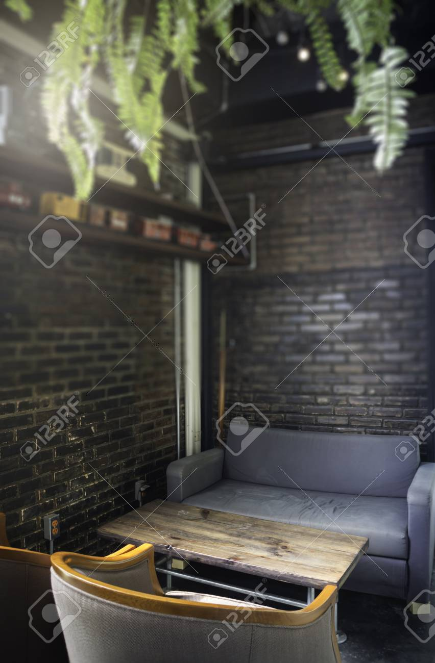 Vintage styled furniture set in the living room, stock photo Standard-Bild - 95195746