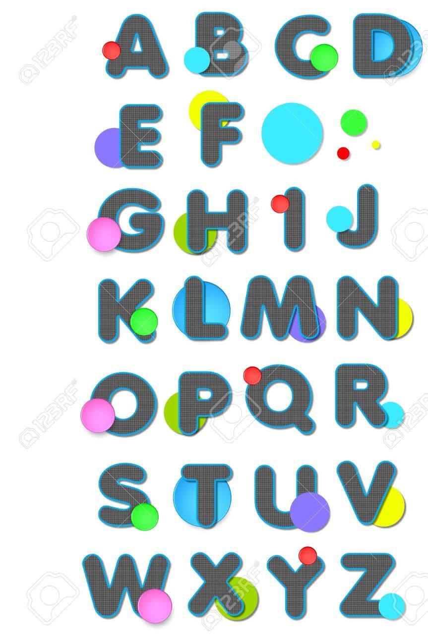 Letras Del Alfabeto De A A Z Tienen En Blanco Y Negro Comprobado ...