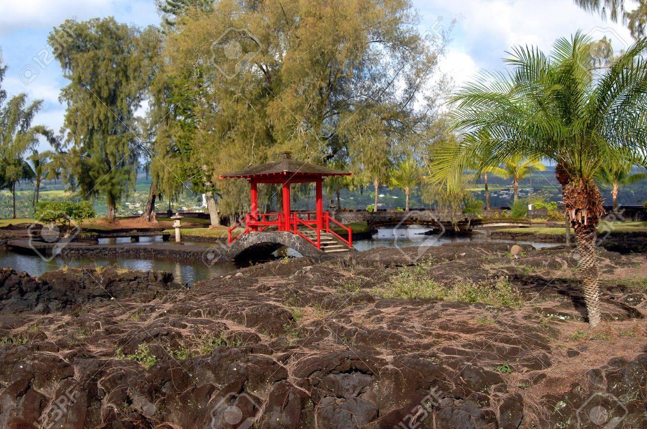 Liliuokalani Gardens A Hilo, Hawaii è Il Più Grande Giardino Stile ...
