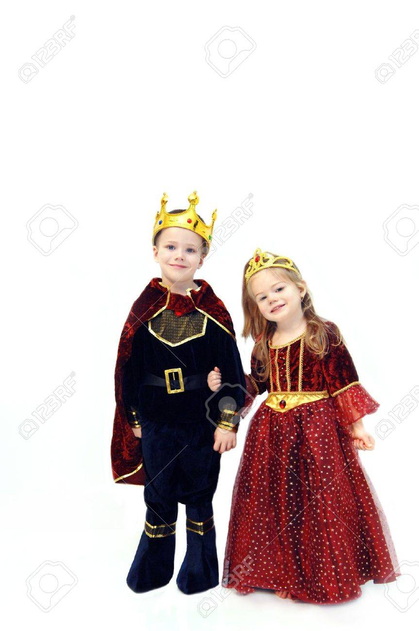 Little girl and boy are wearing Halloween costumes Stock Photo - 15088733