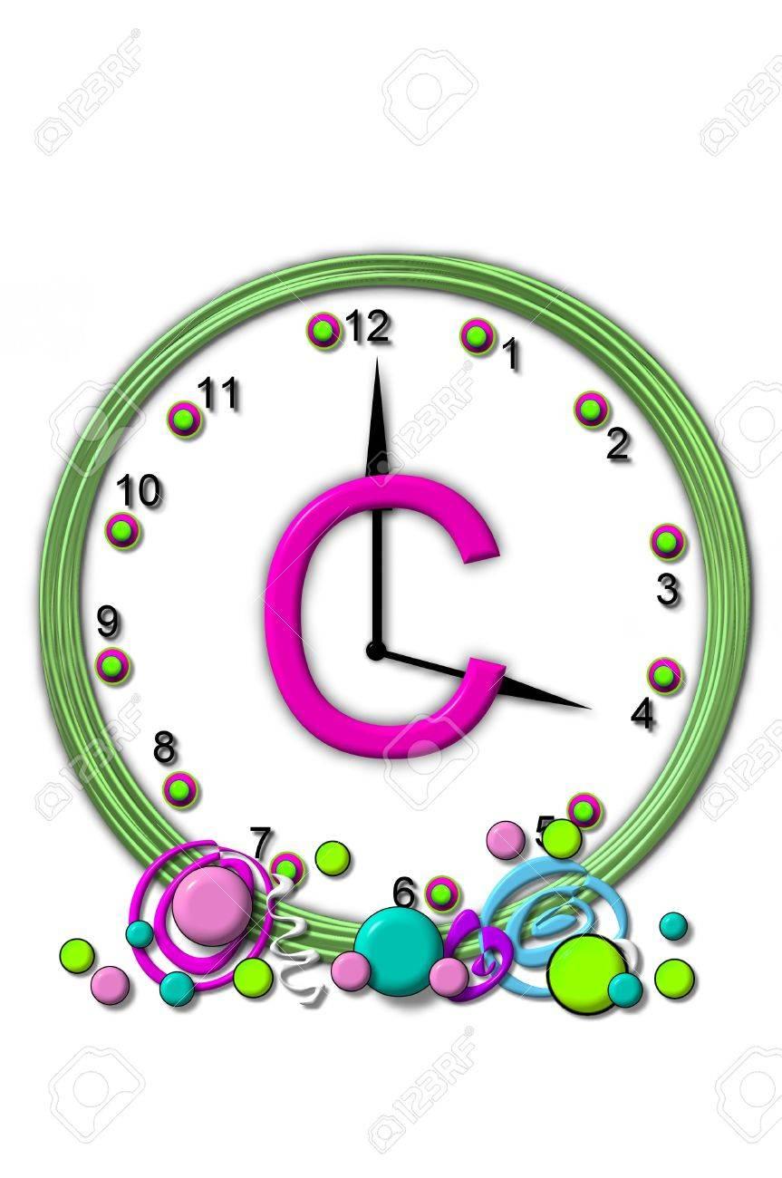 Die Buchstaben C, Im Alphabet Gesetzt Timeless, Wird In Der Mitte ...