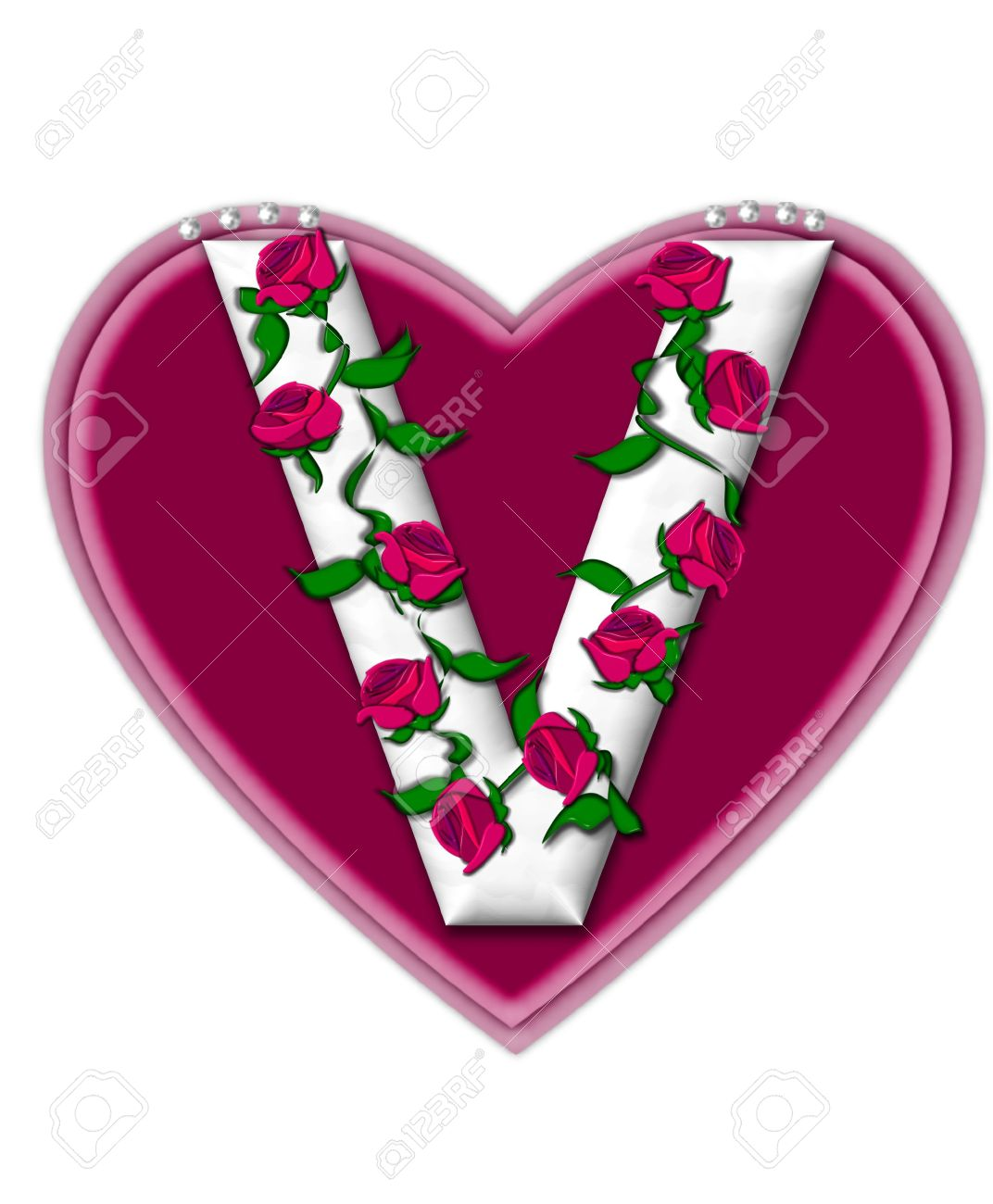 Alphabet V In Heart Wallpapers The Letter