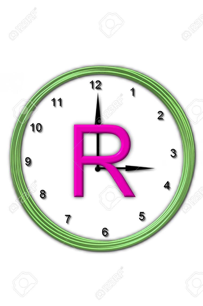 Die Buchstaben R, Im Alphabet Gesetzt Timeless, Wird In Der Mitte ...