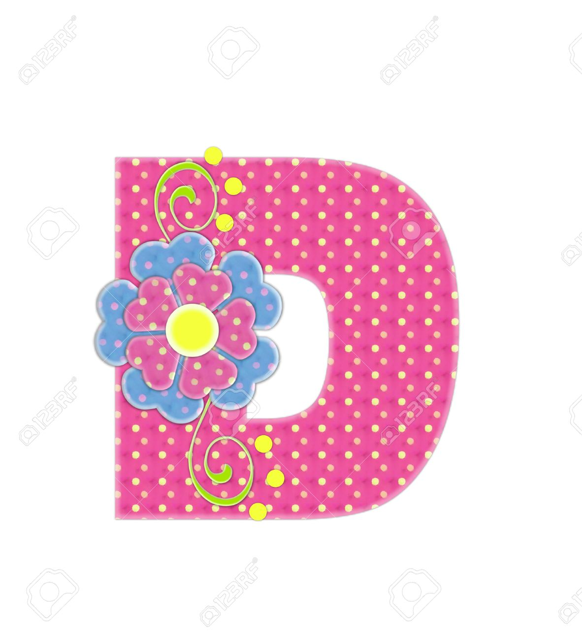 The Letter D, In The Alphabet Set \