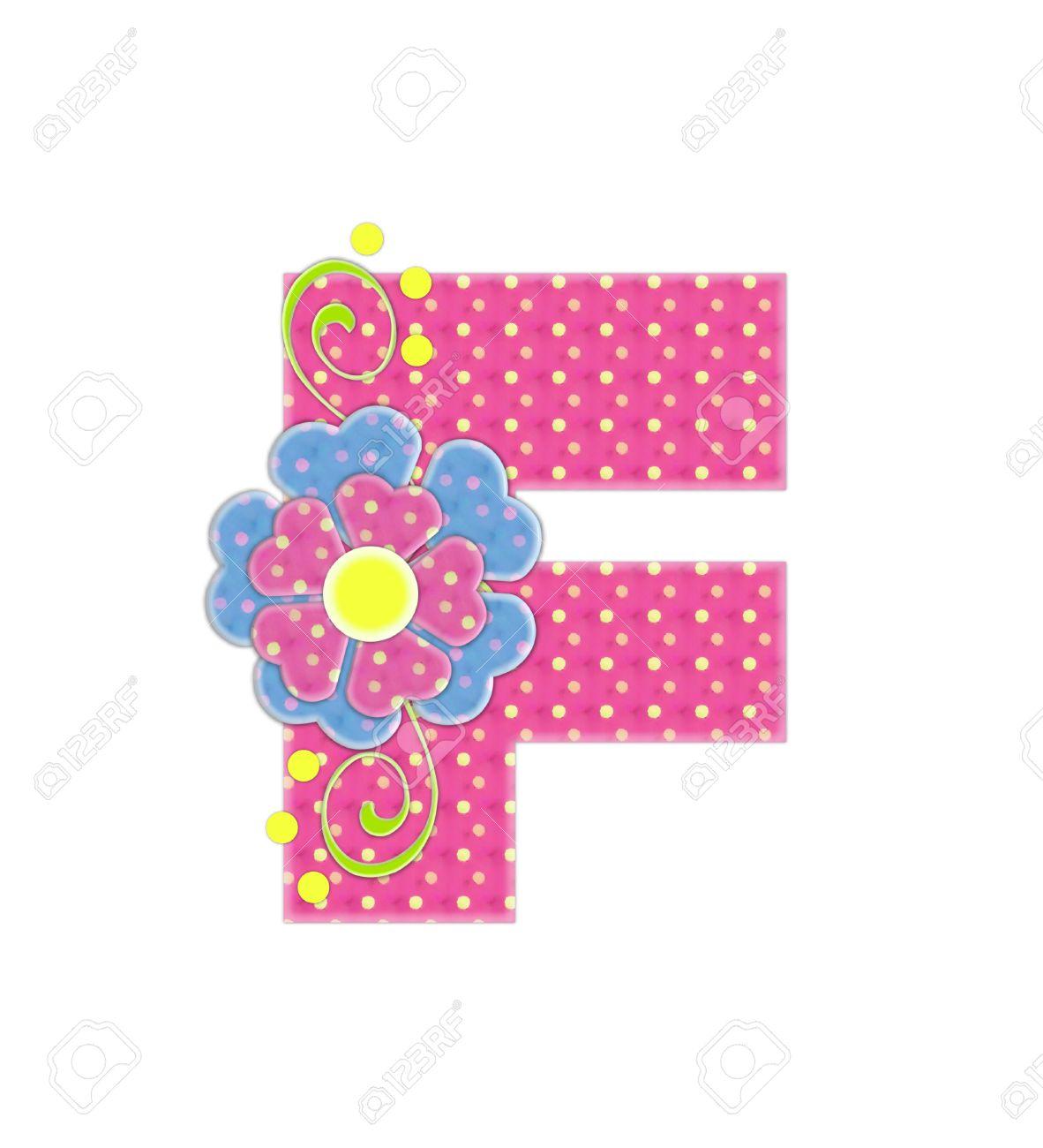 La Letra F, En El Alfabeto Ajuste \