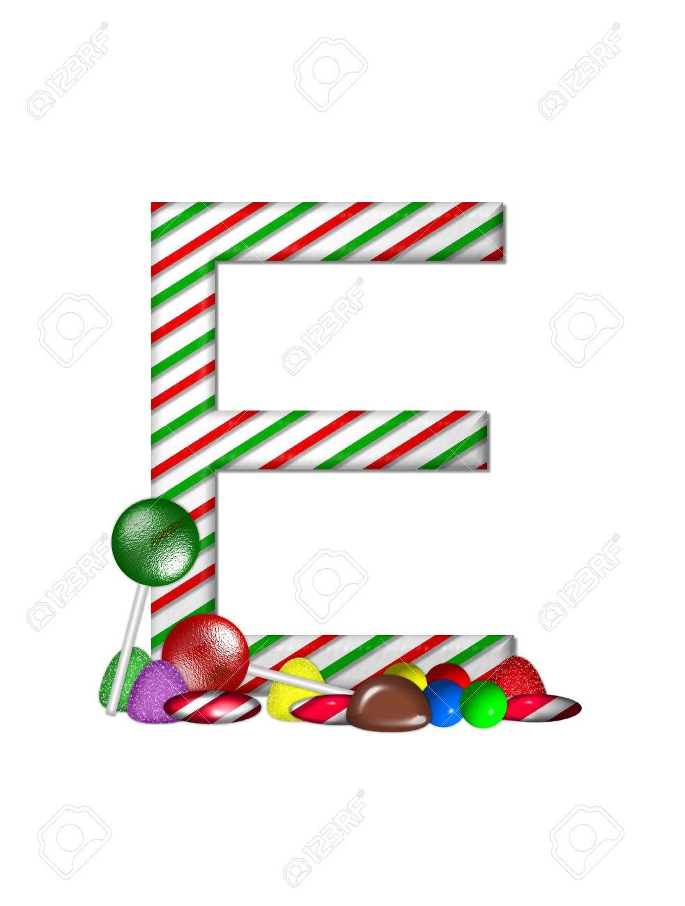 The Letter E, In The Alphabet Set \