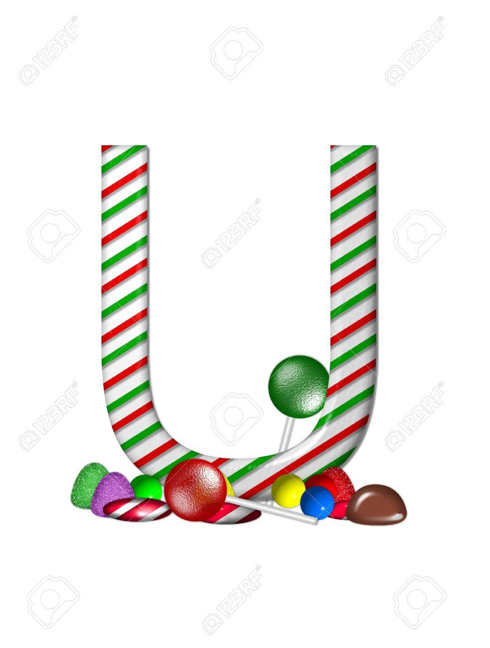 The Letter U, In The Alphabet Set \