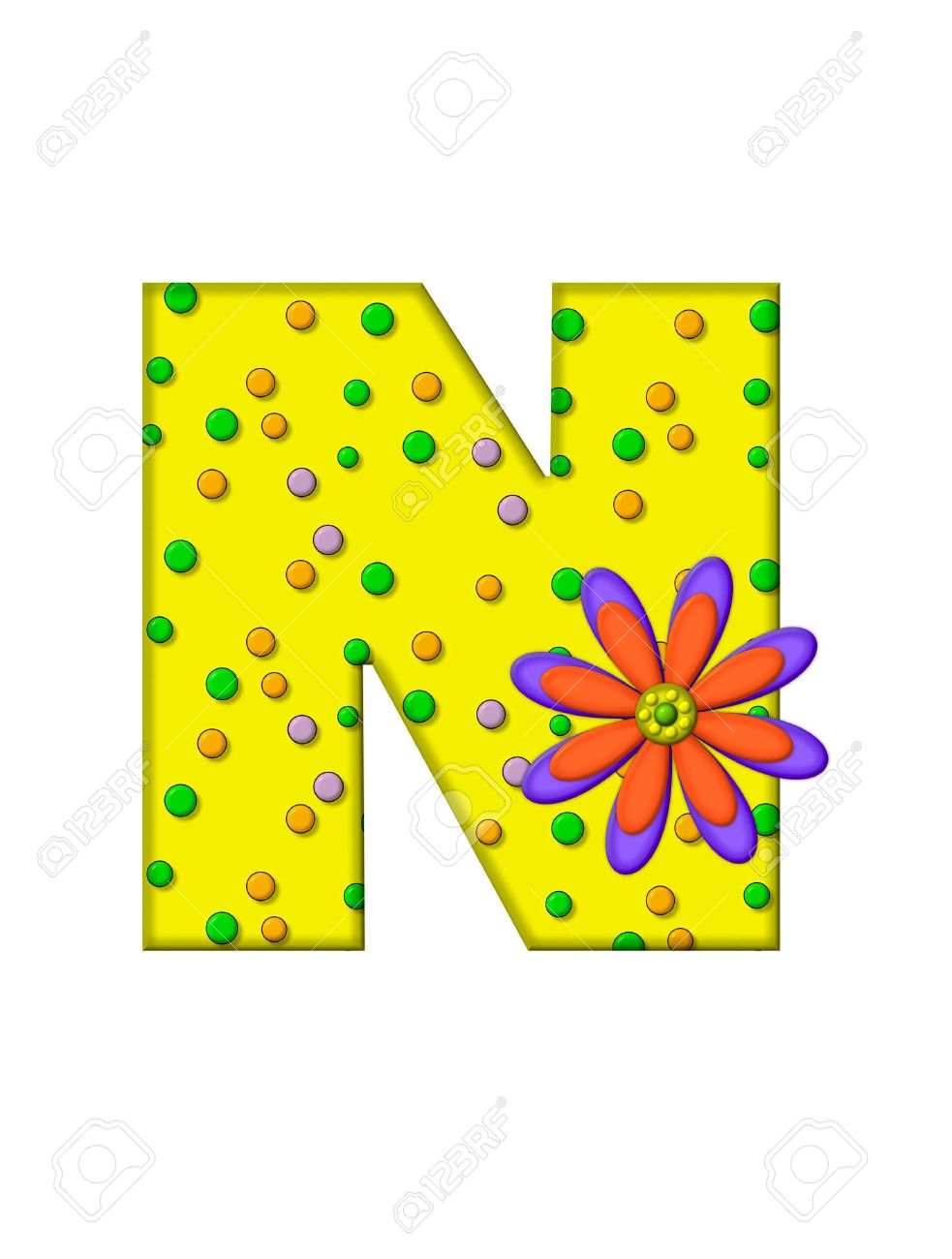 The letter n in the alphabet set zany dots is yellow with the letter n in the alphabet set sciox Gallery