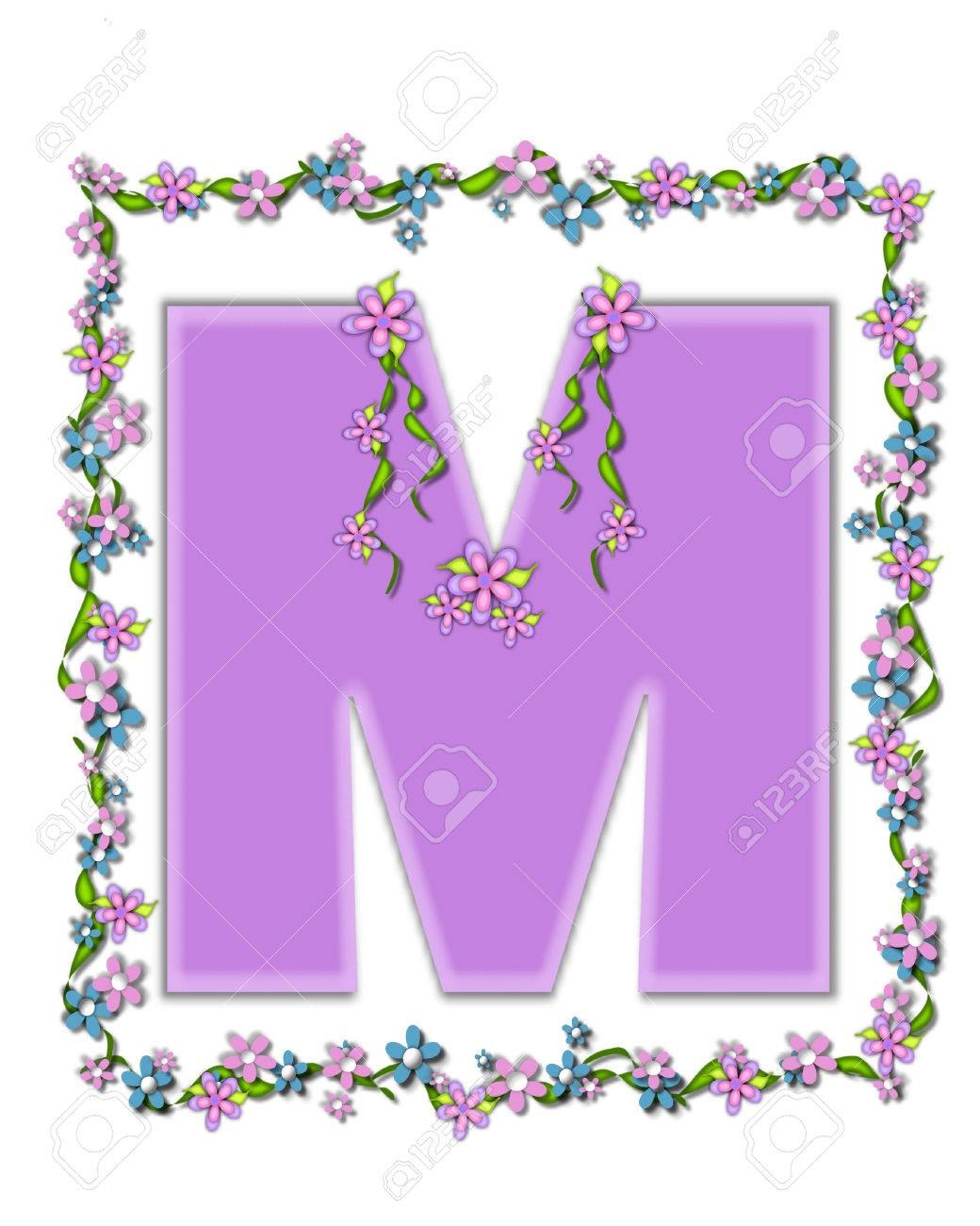 The Letter M In The Alphabet Set Daisy Fair Lilac Is A Soft