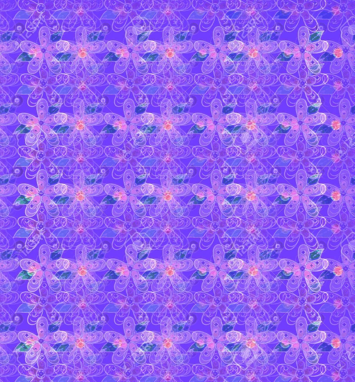 Soft Semi Transparent Flowers Spill Across A Purple Background