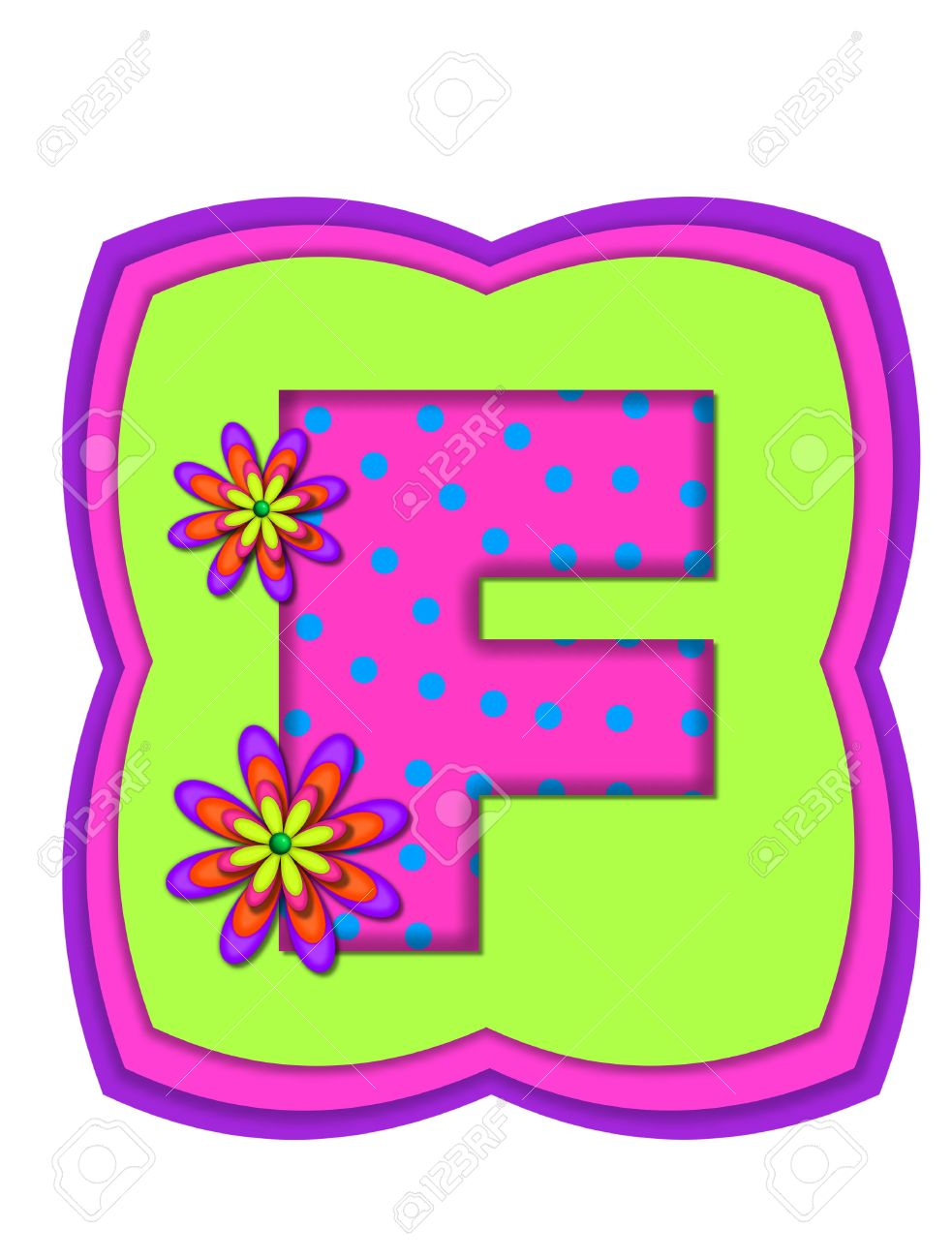 The Letter F, In The Alphabet Set \