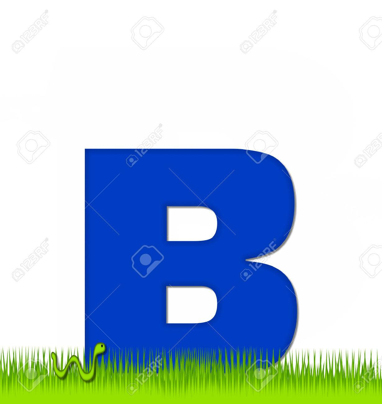 Stock Photo - The letter B, in the alphabet set