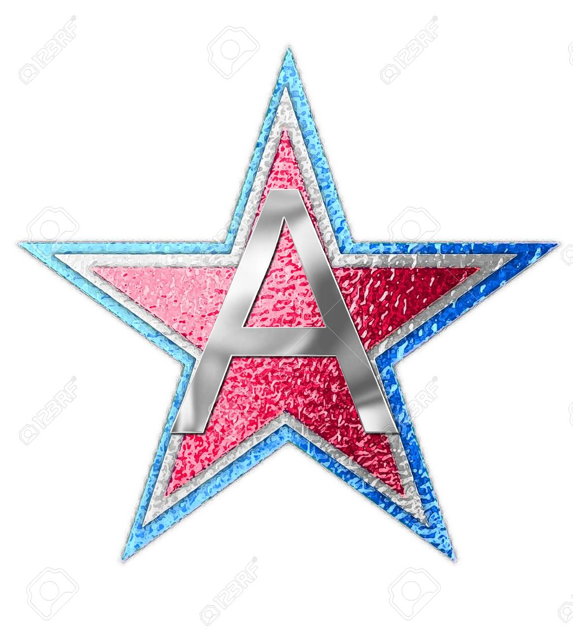 The Letter A In The Alphabet Set All Star Is Silver Metalic
