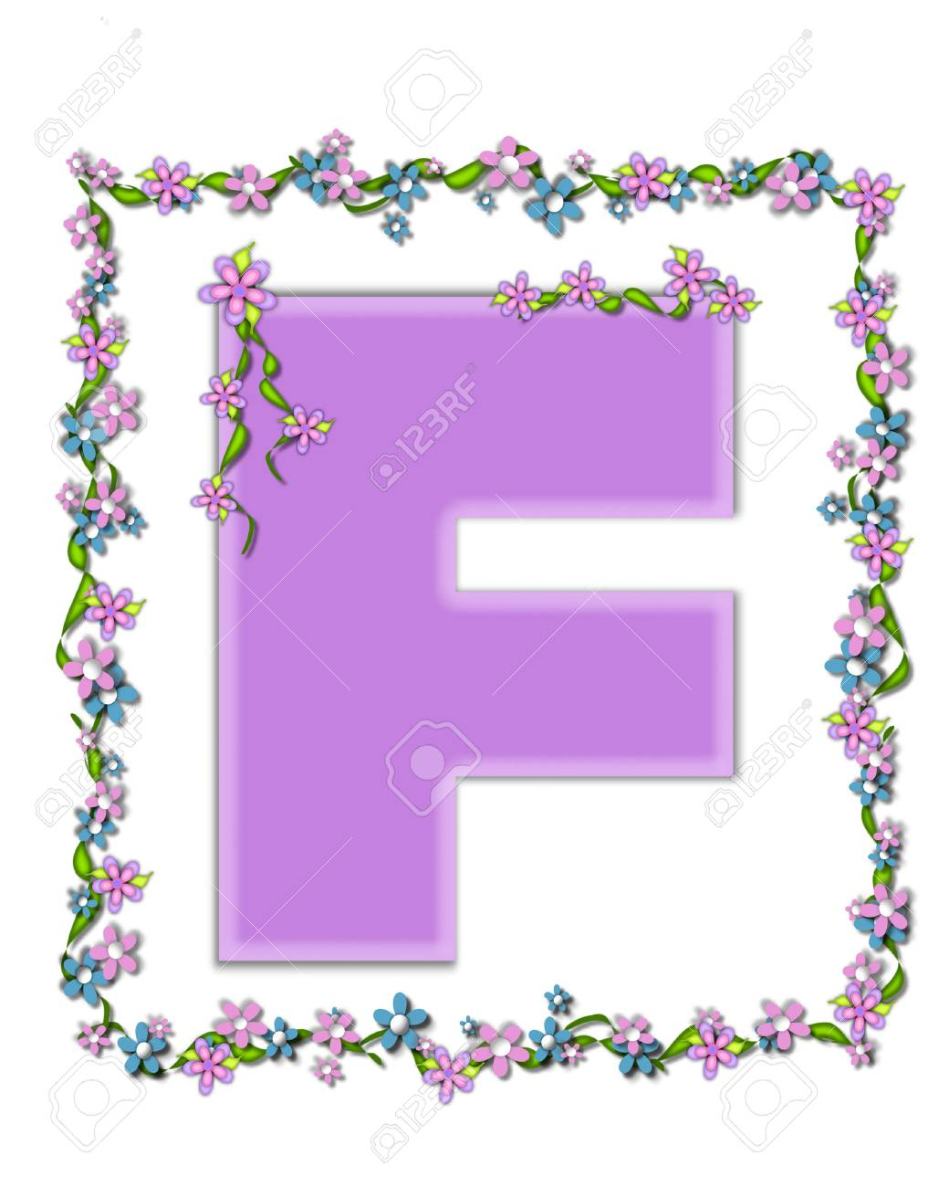 The Letter F In The Alphabet Set Daisy Fair Lilac Is A Soft