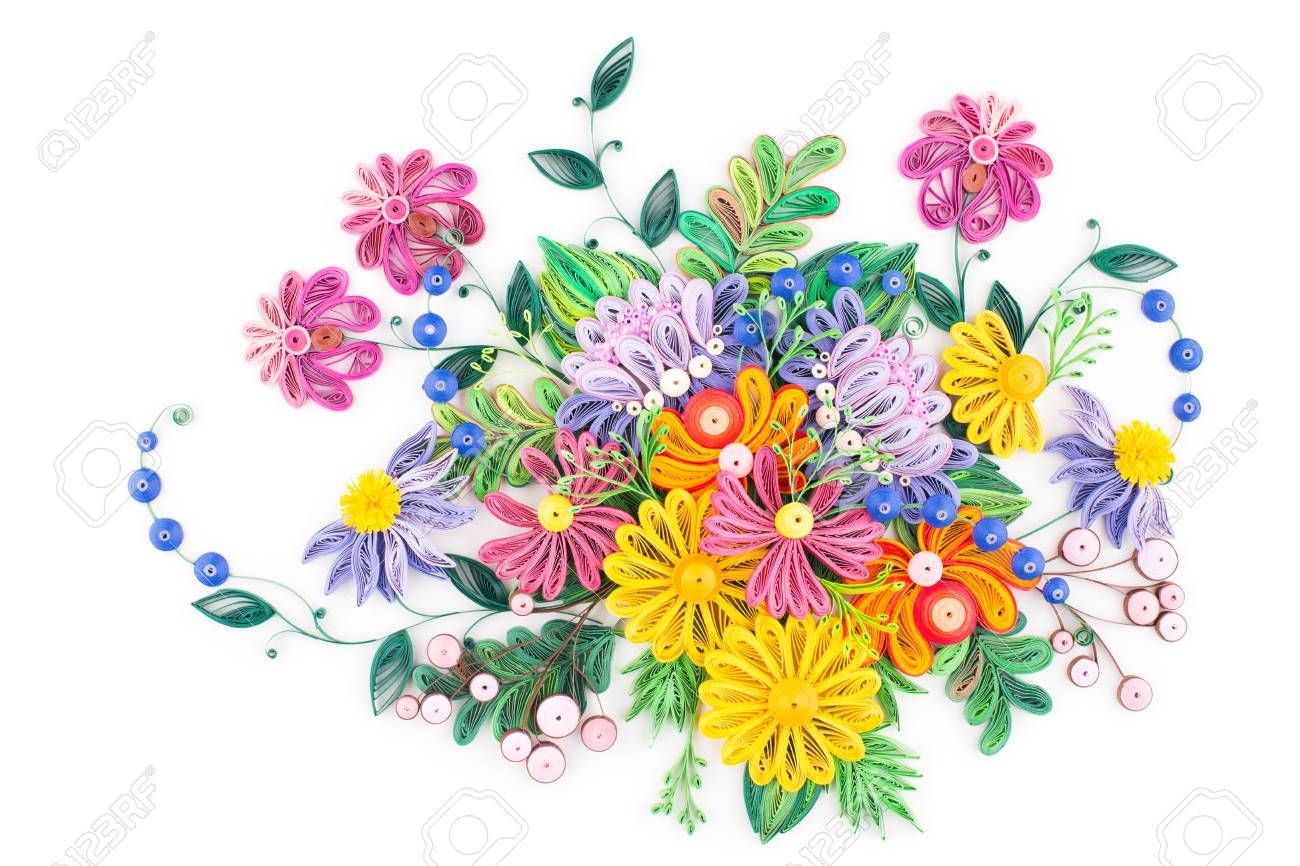 Paper Quilling Colorful Paper Flowers Stock Photo Picture And