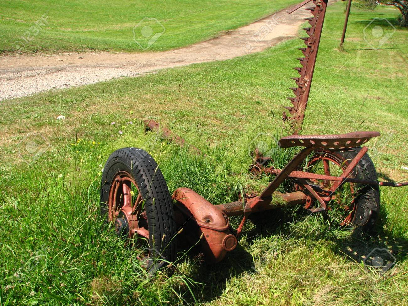Antique Farm Equipment Stock Photo Picture And Royalty Free Image