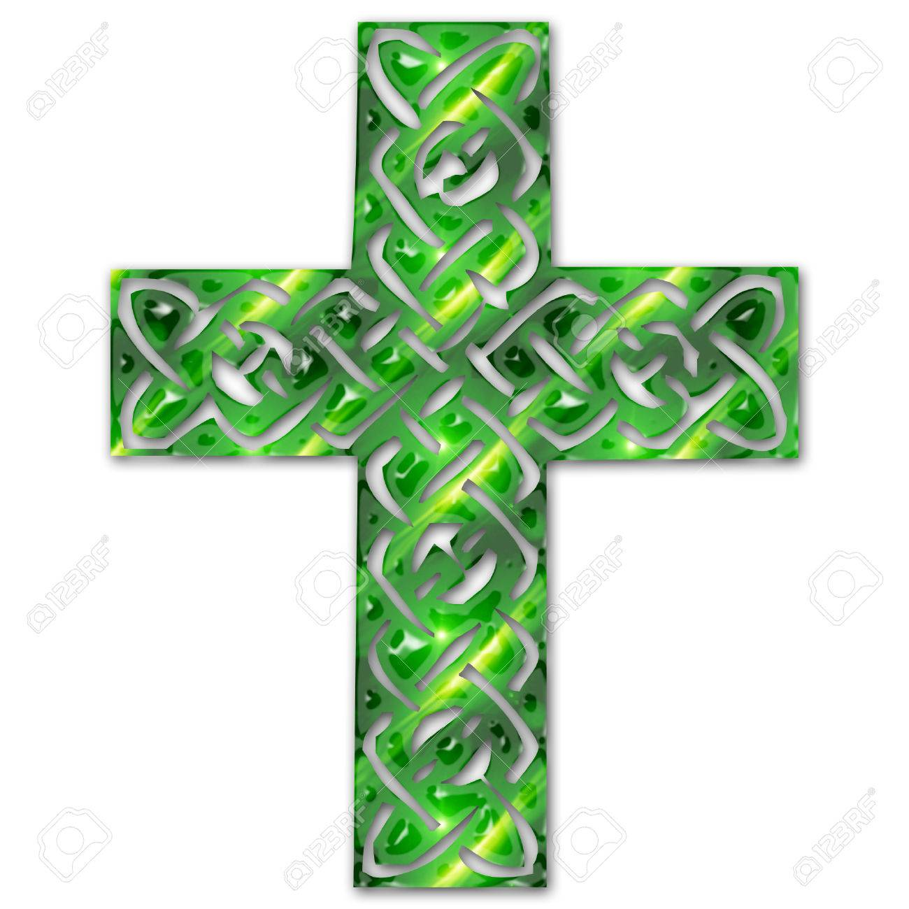 a pretty colorful intricate celtic cross Stock Vector - 5274985