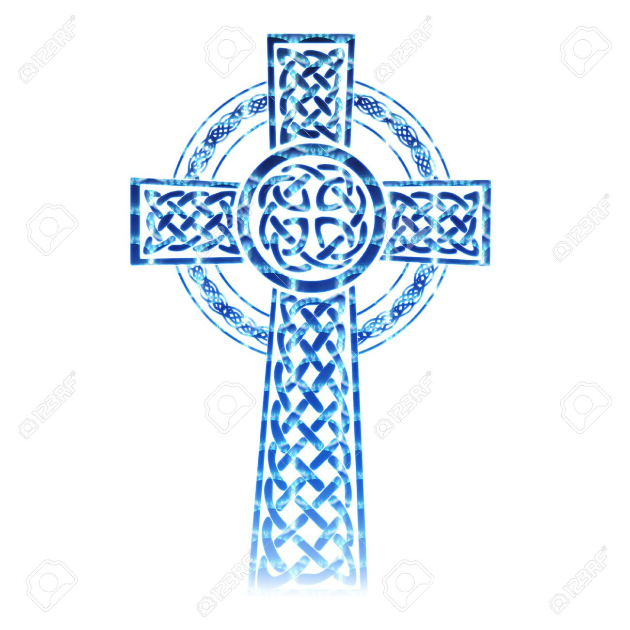 a pretty colorful intricate celtic cross Stock Vector - 5274972