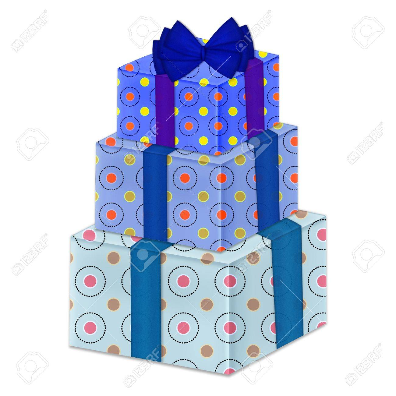 Pretty gift boxes stacked up royalty free cliparts vectors and pretty gift boxes stacked up stock vector 8700295 negle Images