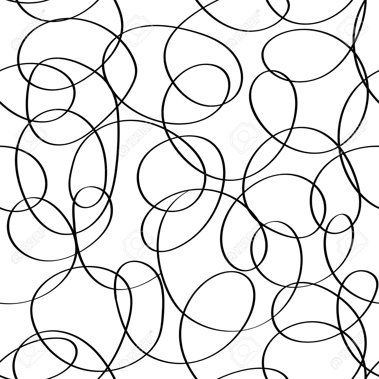 Vector Doodle Abstract Seamless Scribble Background Fantasy