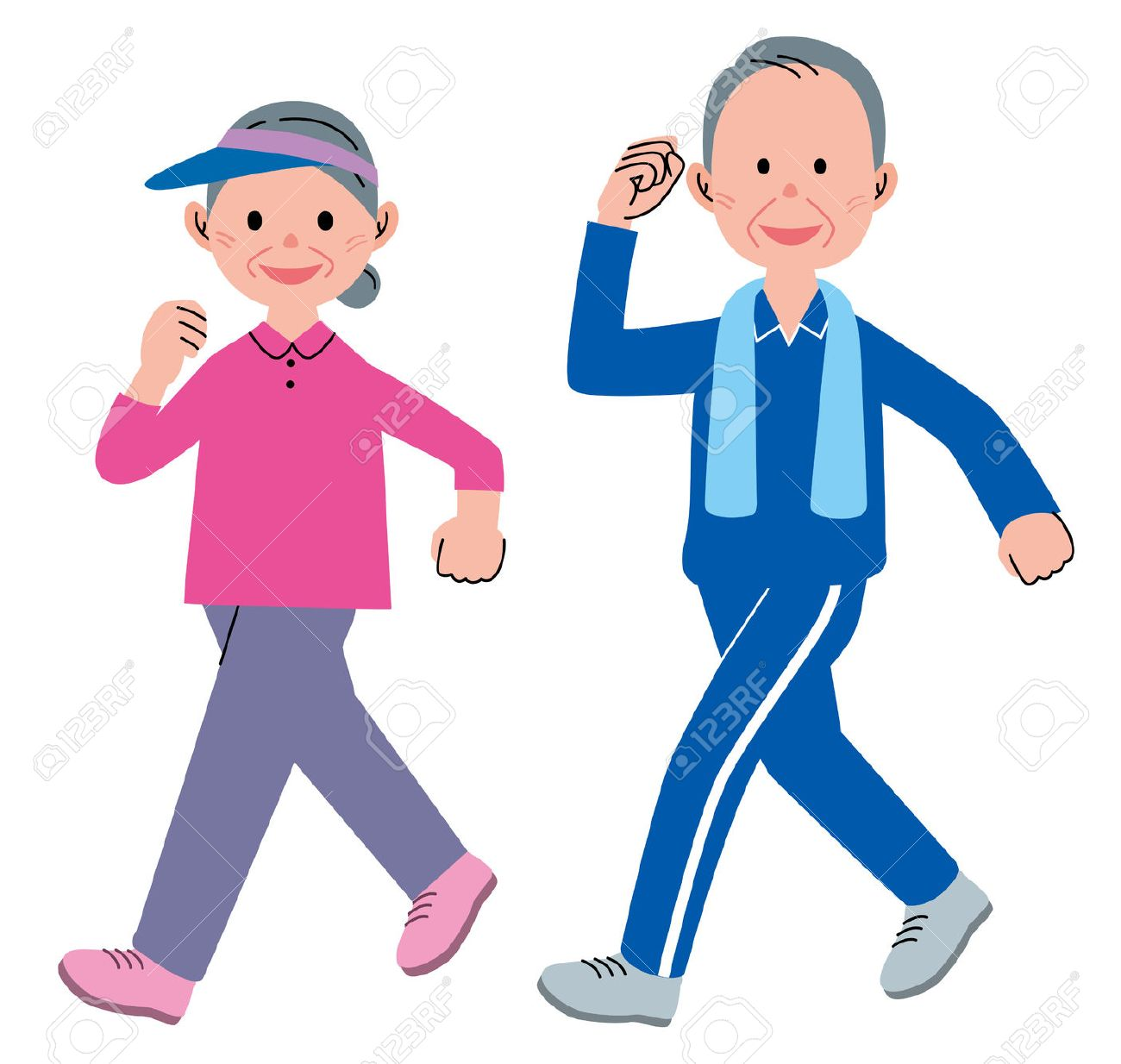 senior walking stock photo picture and royalty free image image rh 123rf com exercise clip art pictures exercise clip art in black & white