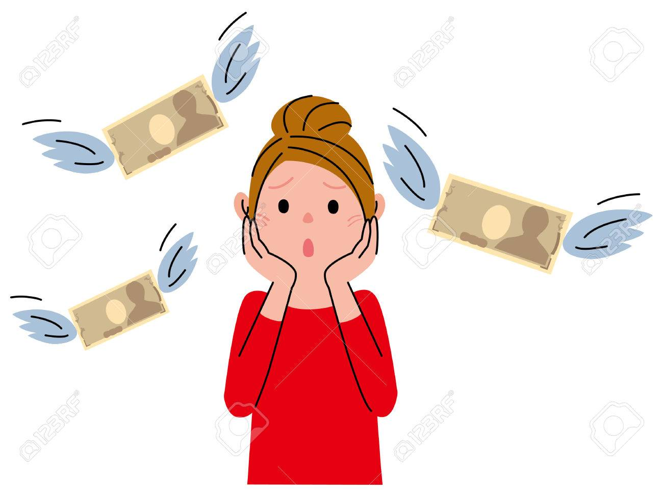 Woman Money - 48064568