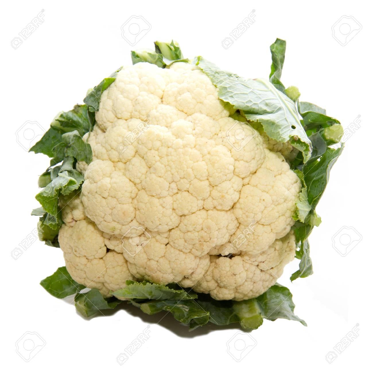 Fresh cauliflower isolated on white background Standard-Bild - 17173859