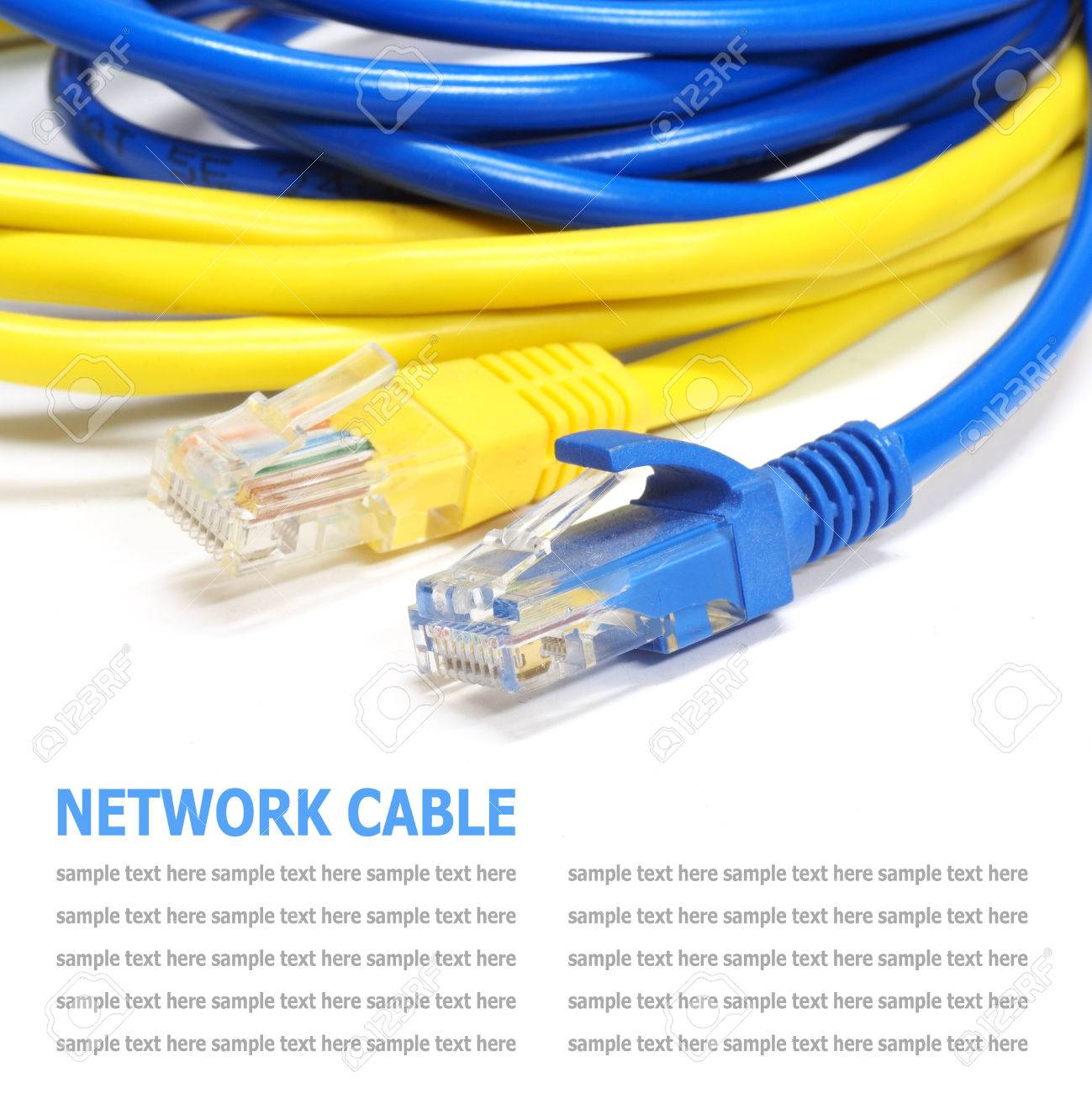 Network internet cable isolated on white background Standard-Bild - 37105569