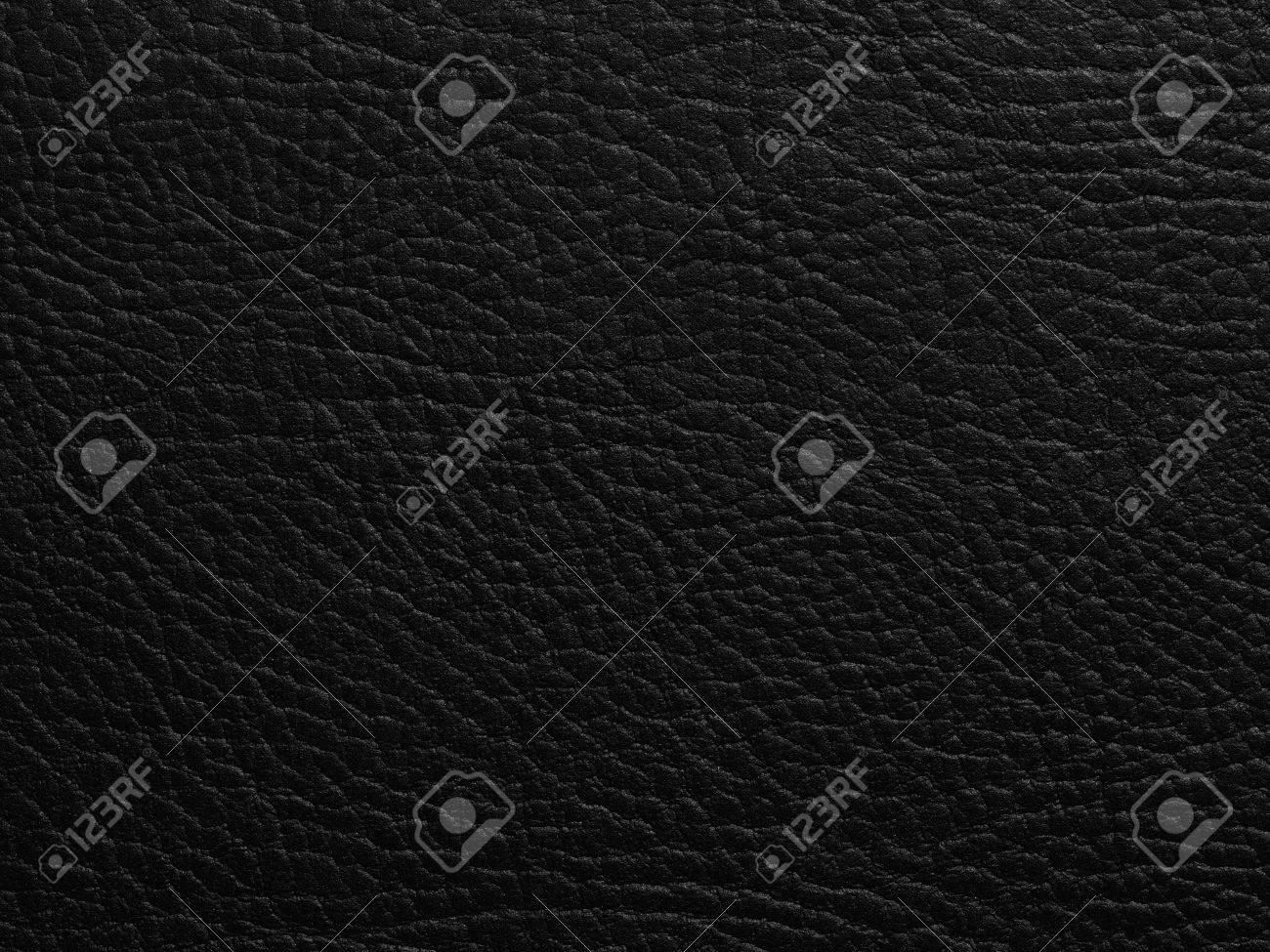 Black leather texture closeup Standard-Bild - 41374816