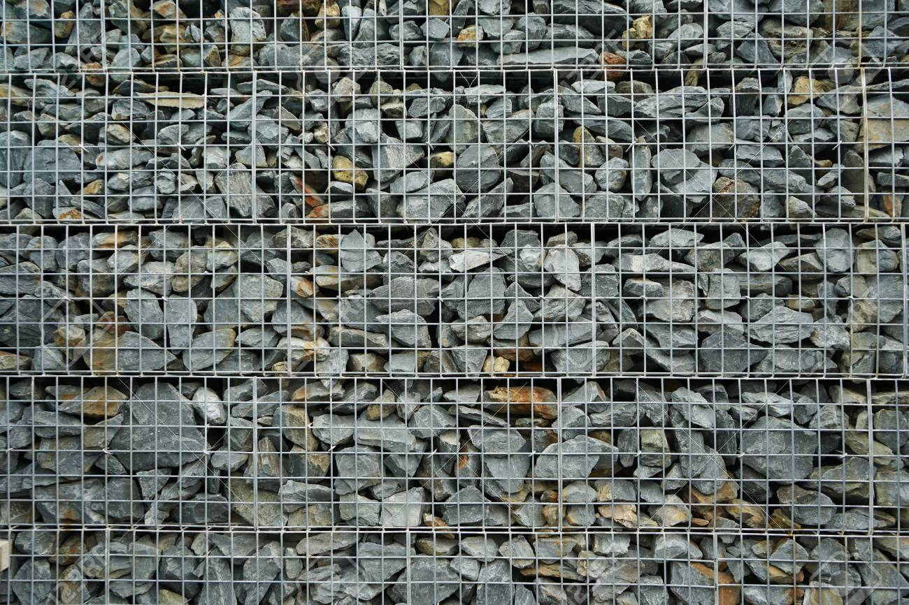 Pattern Of Modern Style Wall Made From Gray Stone Design Decorative