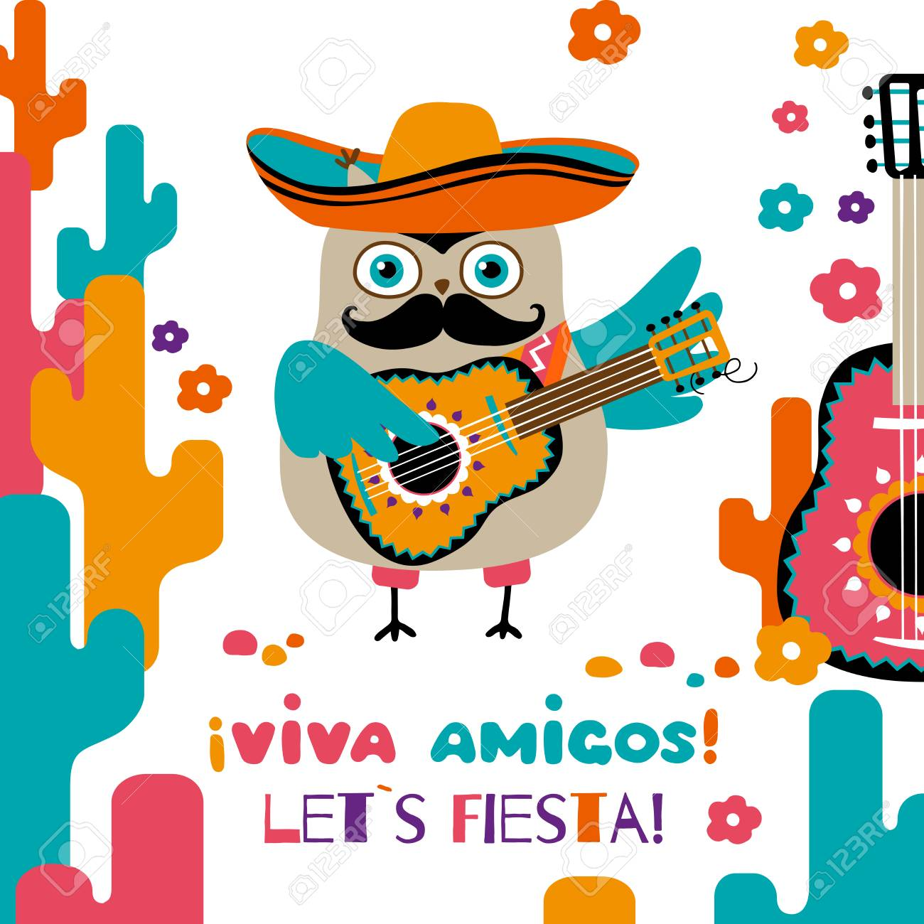 Cinco de mayo greeting postcard cartoon owl in mexican sombrero cinco de mayo greeting postcard cartoon owl in mexican sombrero stock vector 99901957 m4hsunfo
