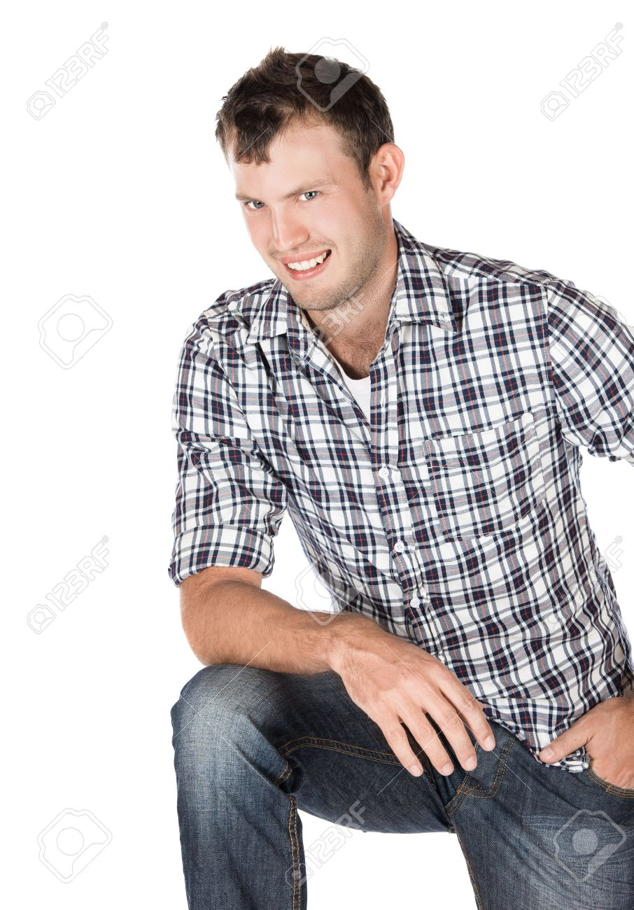 Handsome Young Attractive Male Fashion Model Wearing Casual Jeans Stock Photo Picture And Royalty Free Image Image 21656067