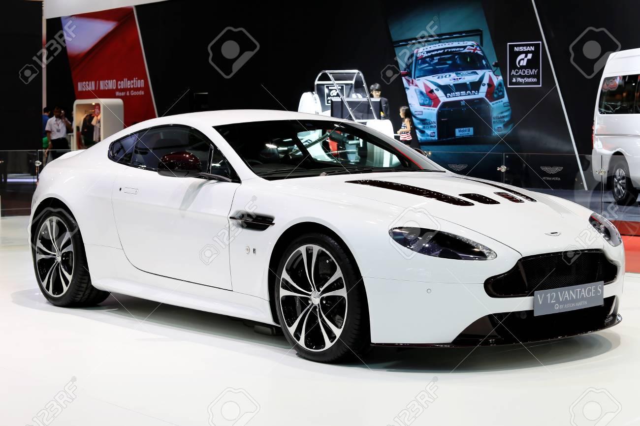 Bangkok April 2 White Aston Martin Series V12 Vantage S Stock Photo Picture And Royalty Free Image Image 40096445