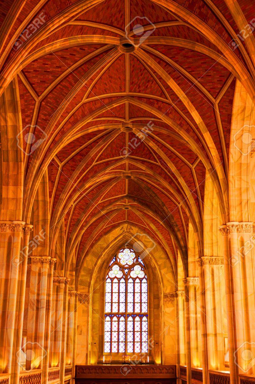 Arched ceiling of  church Berlin Germany Stock Photo - 11653884