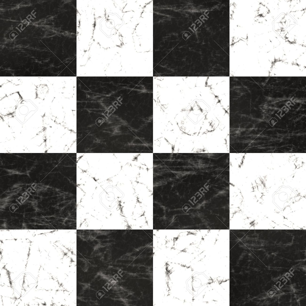 High quality seamless checkerboard marble floor tiling Stock Photo - 13410080
