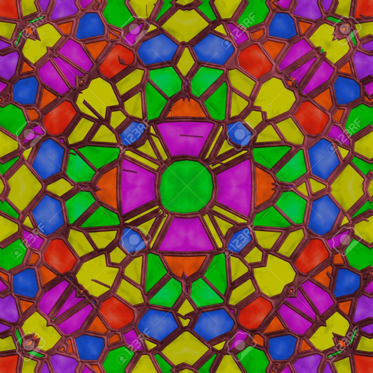 High quality seamless stained glass background Stock Photo - 13410141