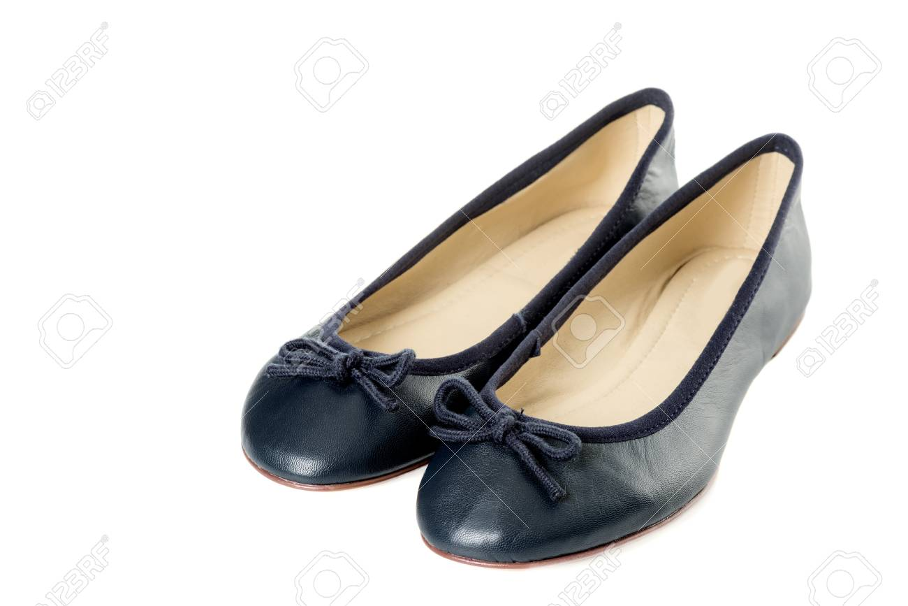 a31ad7f24 Pair Of Female Shoes Over White Background Stock Photo, Picture And ...